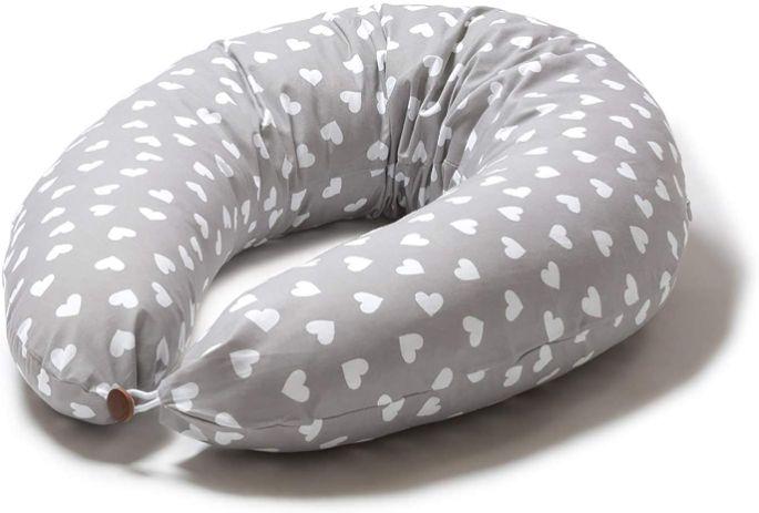 Niimo Coussin d'allaitement et de Grossesse pour Dormir Multifonctionnel de Corps Femme Enceinte Alpha XXL Housse 100% Cotton Amovible