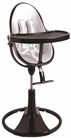 Chaise haute Bloom fresco chrome noir avec coussin d'assise