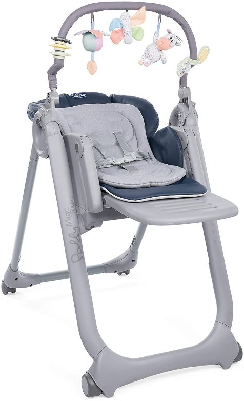 Chicco - Chaise Haute Bébé Polly Magic Relax - 4 Roues - Evolutive